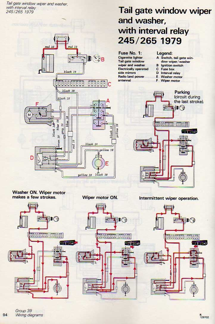 jumping from the seventies to the nineties, not much more than a wire color  and harness routing has changed the wiring diagram: