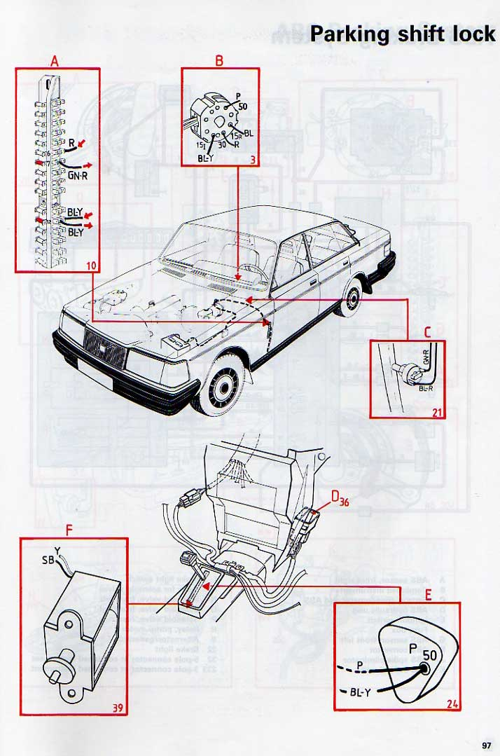 1992 volvo shifter diagram  volvo  auto parts catalog and