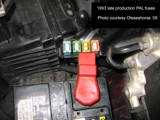 Fuse on 1989 volvo 240 flame trap location