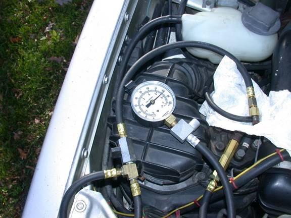Using the K-jet Fuel Pressure Test Kit