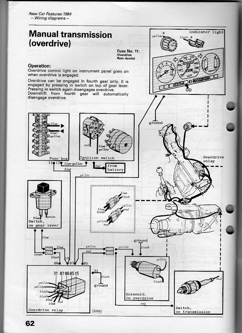 Volvo 240 Overdrive Wiring Diagram Real 92 940 Fuse Box Location 24 Images Alternator 1992 Radio