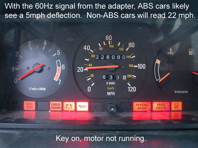 1989 Volvo 240 Speedometer Diagnostic