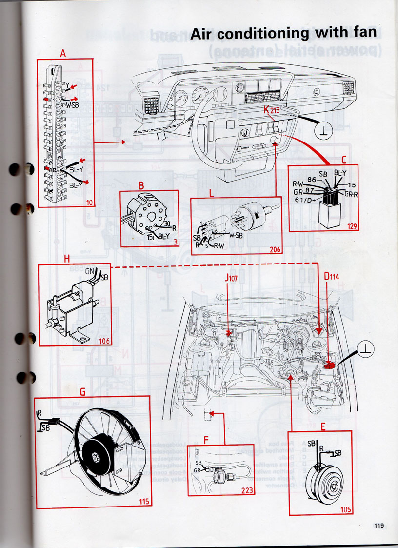 Volvo 240 Ac Notes Cruise Control Wiring Diagram Quick Reference Parts Book 1989 Shows Three Relays For